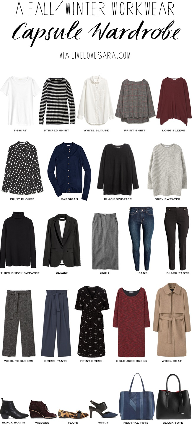 Winter Capsule Wardrobe For 2017 And 2018: Fall/Winter Workwear Capsule Wardrobe Business Casual