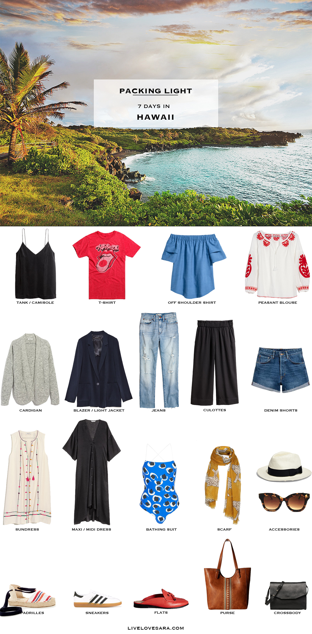 What To Pack For Hawaii Packing Light Livelovesara