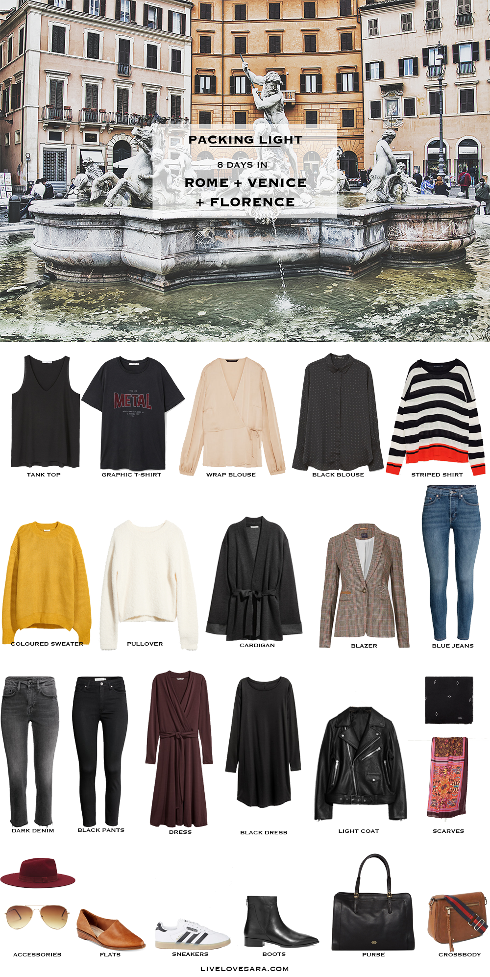 What To Pack For Rome Venice And Florence Livelovesara