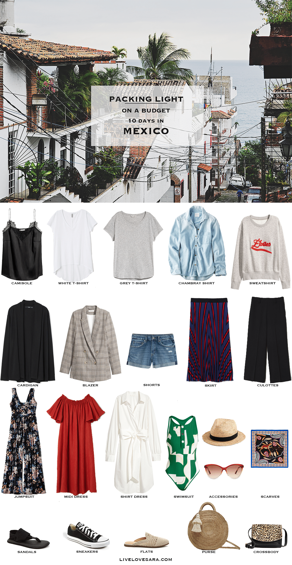 what to pack for mexico a budget packing light list | what to pack