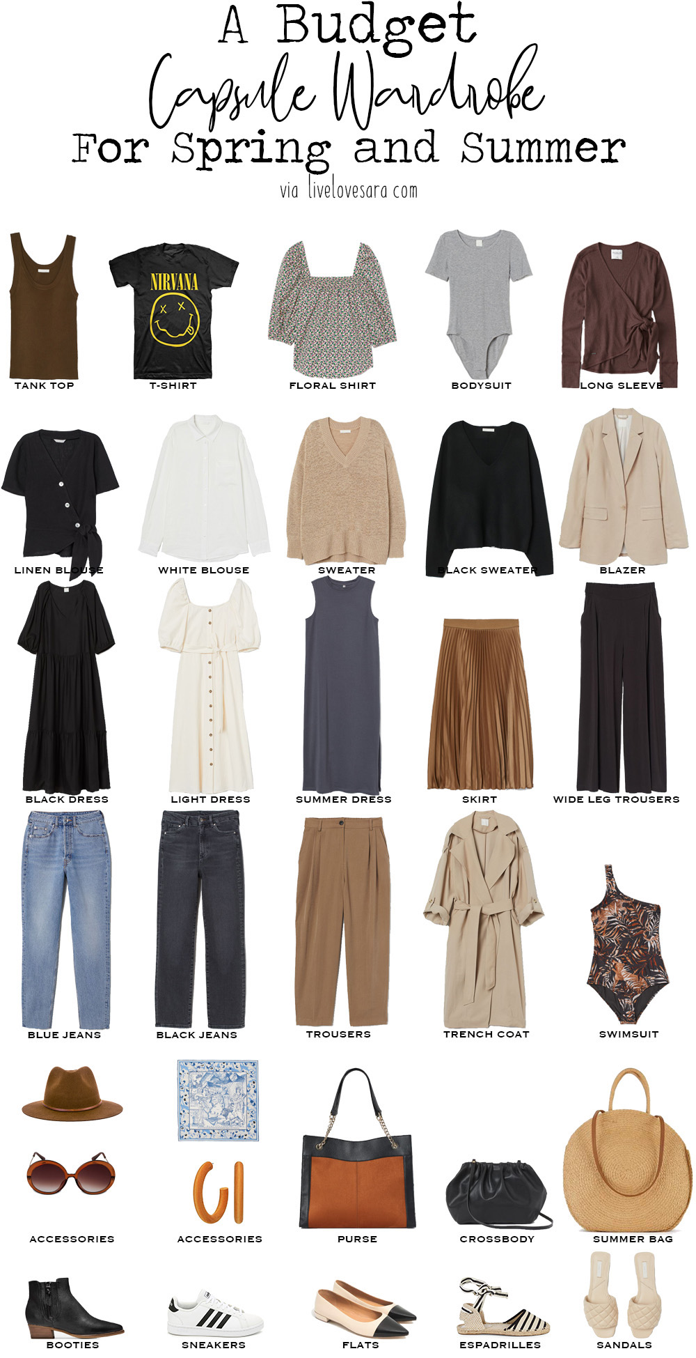 How to Build a Budget Capsule Wardrobe for Spring and Summer