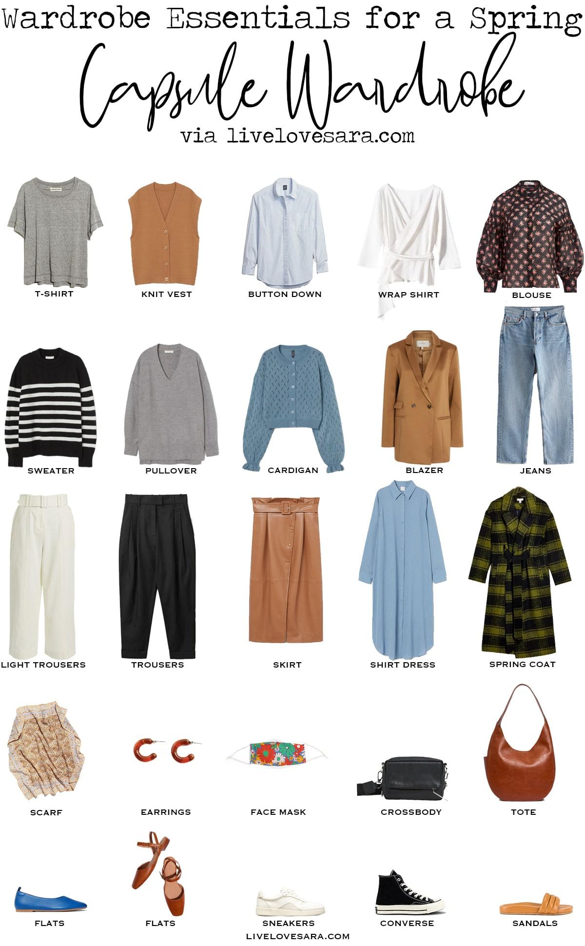 Spring Capsule Wardrobe Essentials - livelovesara